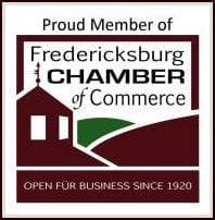 Fredericksburg Chamber of Commerce logo.