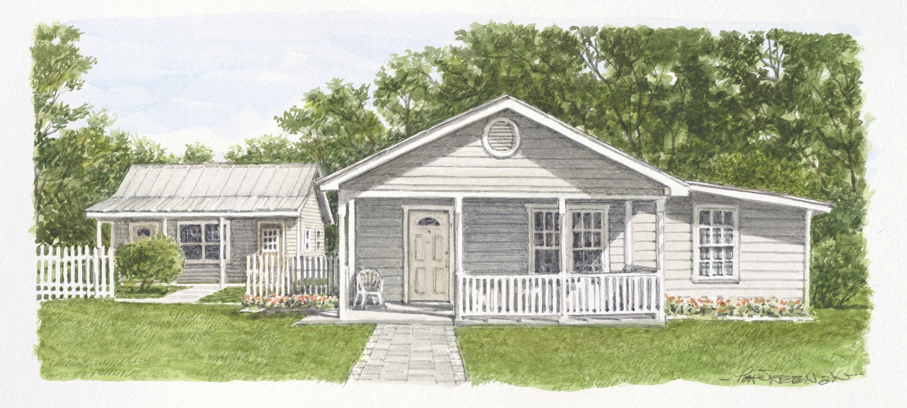 Drawing of House A.